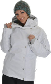 686 Smarty Rogue Snowboard Jacket White Stripe