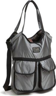 7 A.M. ENFANT Barcelona Diaper Bag Metallic Silver One Size