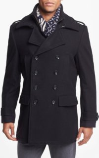 7 Diamonds Glasgow Trim Fit Double Breasted Coat X-Large