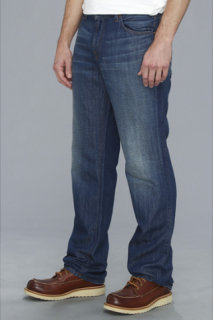7 For All Mankind Austyn Relaxed Straight Leg in Cotton Linen Indigo
