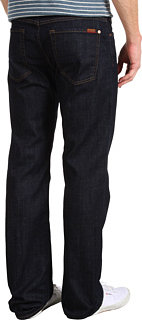 """7 For All Mankind Austyn Relaxed Straight Long 36"""" Inseam in Dark and Clean"""