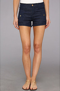 7 For All Mankind Button Short w/ Side Pockets in Deep Rinse