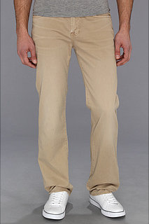 7 For All Mankind Carsen Modern Straight Washed Out Twill in Khaki