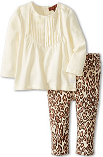 7 For All Mankind Cheetah Jean W/Pleated Top