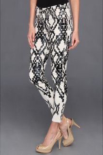 7 For All Mankind Cropped Skinny Ethnic Geo
