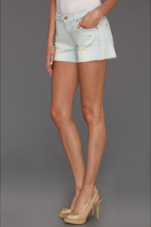 7 For All Mankind Cut Off Short in Distressed Light