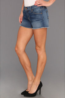 7 For All Mankind Cut Off Short in Light Blue Distressed