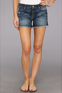 7 For All Mankind Cut Off Short in Super Grinded Blue