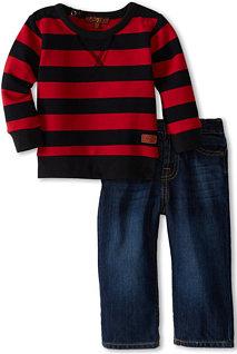 7 For All Mankind Dark Indigo Jean with Stripe Top