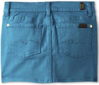 7 For All Mankind Denim Skirt in Enamel Blue