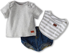 7 For All Mankind Diaper Cover w/ Tee & Bib