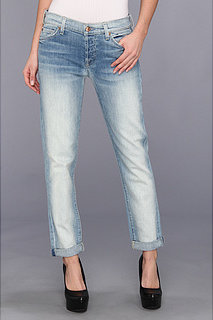 7 For All Mankind Josefina Skinny Boyfriend w/ Rolled Hem in Sun Bleach Destroy