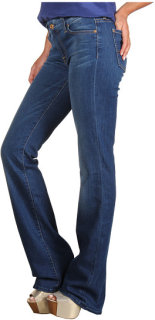 7 For All Mankind Kimmie Bootcut w/ Contoured Waistband in Light Blue Stretch