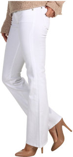 7 For All Mankind Kimmie Short Inseam Bootcut w/ Contoured Waistband in Clean White