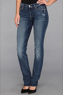 7 For All Mankind Kimmie Straight in Light Destroy w/ Chevrons