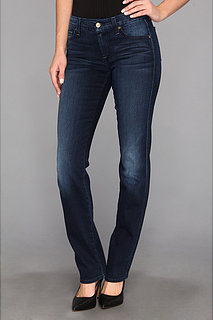 7 For All Mankind Kimmie Straight in Slim Illusion Deep Midnight Blue