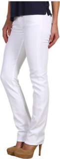 7 For All Mankind Kimmie Straight Leg w/ Contoured Waistband in Clean White