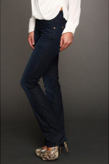 7 For All Mankind Kimmie Straight Leg w/ Contoured Waistband in Reflective Night Star