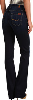 7 For All Mankind Mid-Rise Kimmie Bootcut w/ Contoured Waistband in Black Night