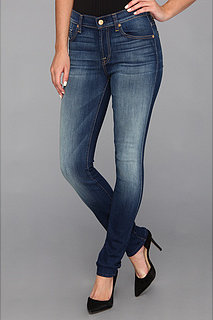 7 For All Mankind Mid Rise Roxanne in Blue Shadows