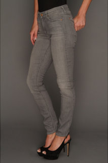 7 For All Mankind Mid-Rise Skinny in Silver Grey