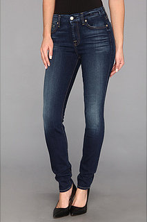7 For All Mankind Mid Rise Skinny w/ Squiggle in Slim Illusion Medium Vintage