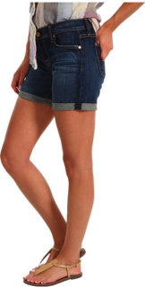 7 For All Mankind Mid Roll-Up Short in Genuine Dark Blue