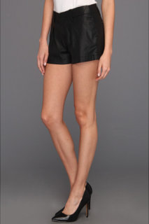 7 For All Mankind Pleated Short in Coated Black