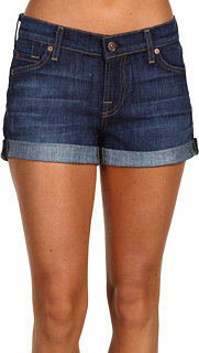 7 For All Mankind Roll-Up Short in Nouveau New York Dark