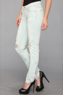 7 For All Mankind Roxanne in Distressed Light