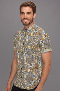 7 For All Mankind S/S Floral Shirt