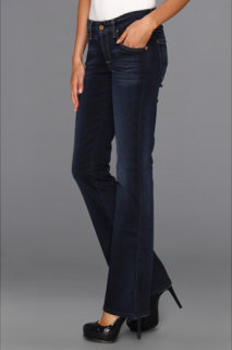 7 For All Mankind Short Inseam Kimmie Bootcut in Slim Illusion Merci Blue