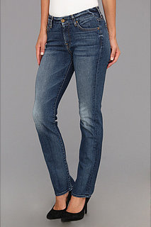 7 For All Mankind Short Inseam Kimmie Straight Leg in Destroyed Rue De Lille