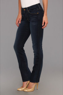 7 For All Mankind Short Inseam Kimmie Straight Leg in Slim Illusion Merci Blue