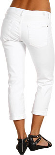 7 For All Mankind Skinny Crop And Roll in Clean White