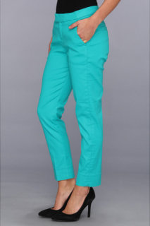 7 For All Mankind Slim Chino in Coated Tropical Green