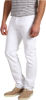 7 For All Mankind Slimmy Straight Leg in Clean White