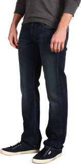 7 For All Mankind Standard Straight Leg in Worn Blue