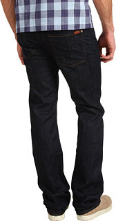 """7 For All Mankind Standard Straight Leg Long 36"""" Inseam in Dark and Clean"""