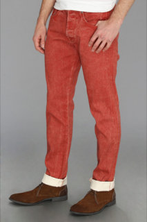 7 For All Mankind Straight Ecru in Passion Red
