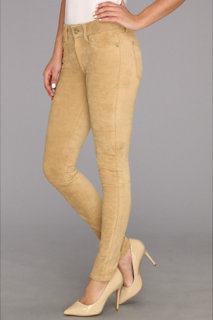 7 For All Mankind Sueded Skinny in Sueded Camel