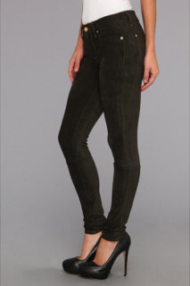 7 For All Mankind Sueded Skinny in Sueded Juniper Green