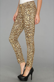 7 For All Mankind The Crop Skinny in Cheetah Print