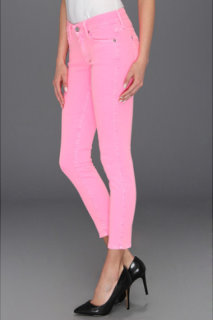 7 For All Mankind The Crop Skinny Neon