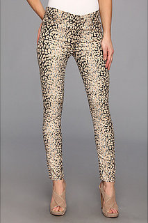7 For All Mankind The Highwaist Ankle Skinny in Mixed Leopard