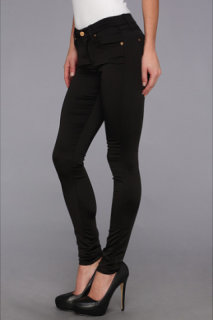 7 For All Mankind The Luxe Sateen Skinny in Black Sateen