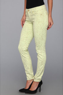 7 For All Mankind The Skinny 29 in Celery w/ Almond Foil
