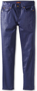 7 For All Mankind The Skinny Coated Jean in Navy