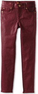 7 For All Mankind The Skinny Coated Jean in Port
