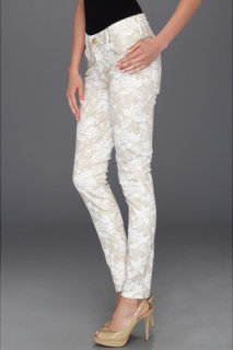 7 For All Mankind The Skinny Floral Spray Lace